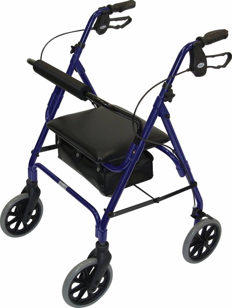 Lichtgewicht rollator safety walker - Blauw en  Bordeaux