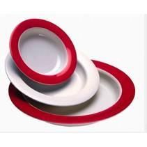 Ornamin bord  - wit  / wit/rood - klein Ø20 cm / groot Ø26 cm