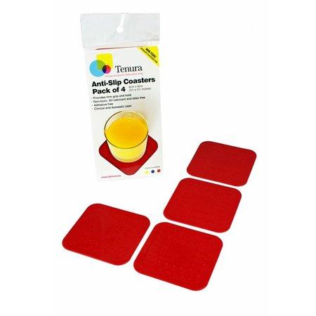Able2 Able 2 Onderzetters Anti-slip  - 4 x 4 cm - blauw / rood / geel