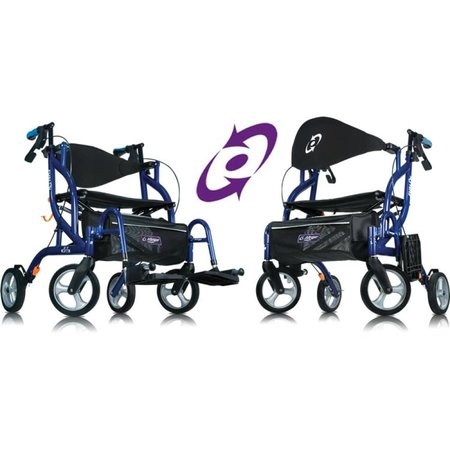Able2 Airgo Fusion inklapbare rollator & transportrolstoel in één