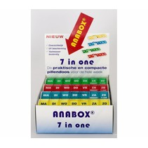 Anabox Weekbox - per stuk / display 12 stuks