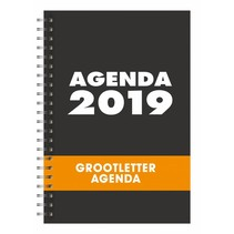 Grootletter agenda - A4  / A5 - 2019