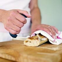 Gehoekte Keukenmessen - broodmes / tafelmes, groot / klein