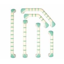 Wandbeugel Prima - wit/groen - recht / gehoekt - 6 afmetingen