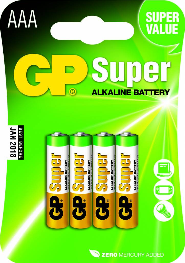 Afbeelding van AAA batterijen 4 stuks / multipack 8