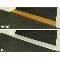 Indoor Drempelvervanger - Aluminium - 90 x 10,5 / 90 x 13