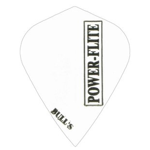 Bull's Powerflite - Kite Solid White