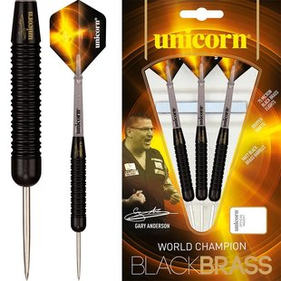 Unicorn Gary Anderson World Champion Black Brass P1