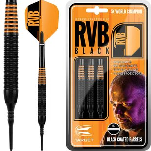 Raymond van Barneveld RVB Black Brass Soft Darts
