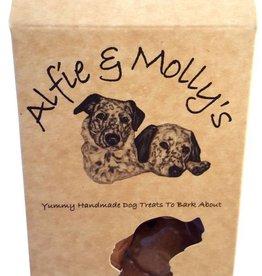 Alfie & Mollys Grain Free Gourmet Peanut Butter & Banana Hearts Dog Treats 150g