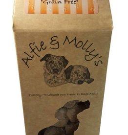 Alfie & Mollys Grain Free Turkey & Banana Calmers Dog Treats 150g