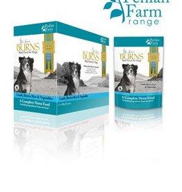 Burns Penlan Farm Dog Food Pouch Complete Lamb Brown Rice & Veg 400g, Box of 6