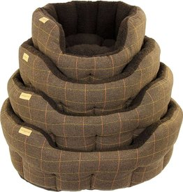 Earthbound Traditional Tweed Bed, Brown