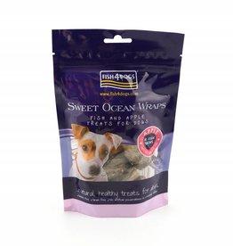 Fish4Dogs Sweet Ocean Wraps Apple & Fish Skin Dog Treats, 100g