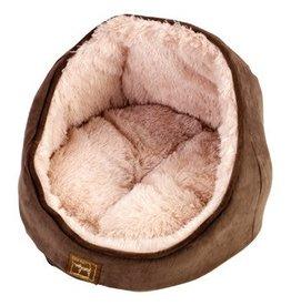 Gor Pets Elan Cat Bed, Brown Suede 36x39x39cm**