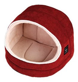 Gor Pets Hooded Cat Bed Divani, Coral Weave**