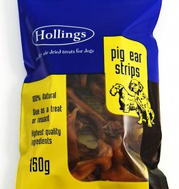 Hollings Pig Ear Strips Dog Treat 150g