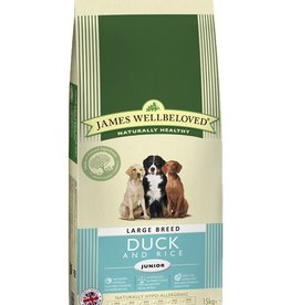 James Wellbeloved Junior Large Breed Dog Food, Duck & Rice
