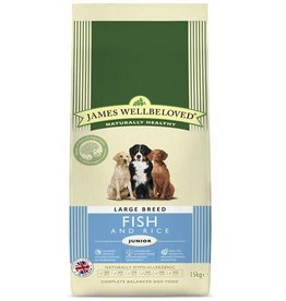 James Wellbeloved Junior Large Breed Dog Food, Fish & Rice