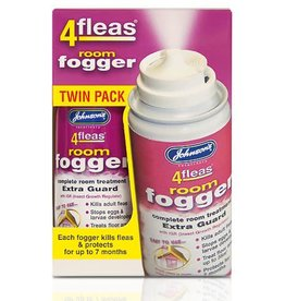 Johnsons 4Fleas Fogger 100ml Aerosol Twin Pack