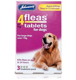 Johnsons 4Fleas Tablets Dogs Over 11 kg, 3 x 57 mg Tablets