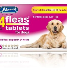 Johnsons 4Fleas Tablets Dogs Over 11 kg, 6 x 57 mg Tablets