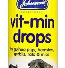 Johnsons Vit-Min Drops for guinea pigs, hamsters, rats, gerbils & mice 100ml