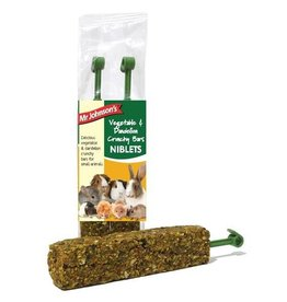 Mr Johnsons Small Animal Treats Vegetable & Dandelion Crunchy Bar Niblets, 2 Pack