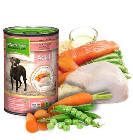 natures menu Adult Dog Can, Chicken & Salmon 400g