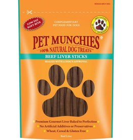 Pet Munchies 100% Natural Dog Treats, Beef Liver Sticks 90g