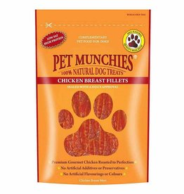 Pet Munchies 100% Natural Dog Treats, Chicken Breast Fillets 100g