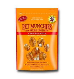 Pet Munchies 100% Natural Dog Treats, Chicken Twists 80g
