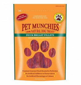 Pet Munchies 100% Natural Dog Treats, Duck Breast Fillets 80g
