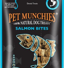 Pet Munchies 100% Natural Dog Treats, Salmon Bites 90g