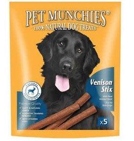 Pet Munchies 100% Natural Dog Treats, Venison Stix 50g