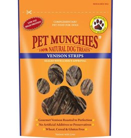 Pet Munchies 100% Natural Dog Treats, Venison Strips 75g