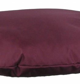 Pets & Leisure Country Dog Heavy Duty Waterproof Oval Cushion, Burgundy