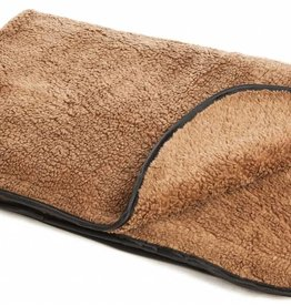 Pets & Leisure Double Thickness Sherpa Fleece Blanket, Brown