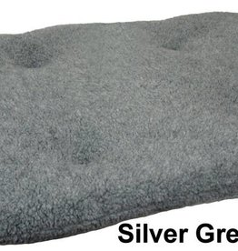 Pets & Leisure Oval Fleece Cushion Pads, Silver Grey