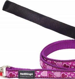 Red Dingo Breezy Love Purple Dog Lead