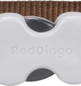 Red Dingo Pink Spots on Brown  Dog Collar