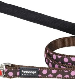 Red Dingo Pink Spots on Brown Dog Lead