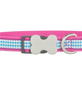 Red Dingo Fang-it Hot Pink Dog Collar