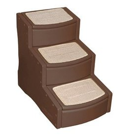 Rosewood 3 Step Easy Step Stairs, Chocolate^