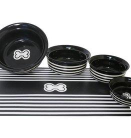 Rosewood Black Stripe Pet Dish