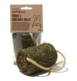 Rosewood Boredom Breaker Naturals Small Animal Treat Carrot & Coneflower Roller