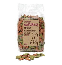 Rosewood Boredom Breaker Naturals Small Animal Treat Carrotys 200g