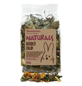 Rosewood Boredom Breaker Naturals Small Animal Treat Natures Salad 200g