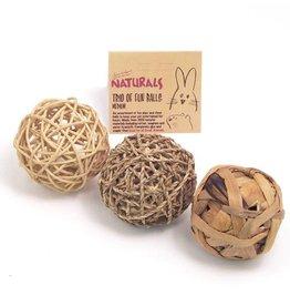 Rosewood Boredom Breaker Small Animal Trio Of Fun Ball Toy, Medium