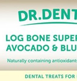 Rosewood Dr Dental Superfruit Log Bones Blueberry & Avocado 2 Pack Dog Treats 200g